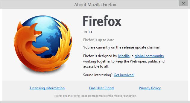 firefox 19.0.1