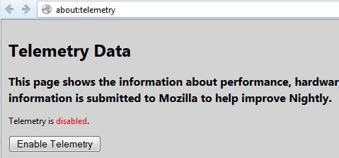firefox about:telemetry screenshot