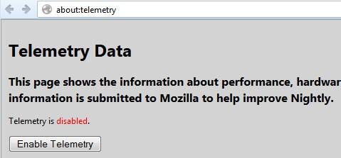 firefox about:telemetry screenshot