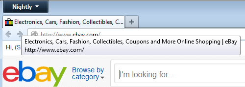 firefox display web address tab screenshot