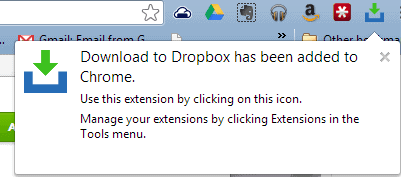 google chrome dropbox icon screenshot