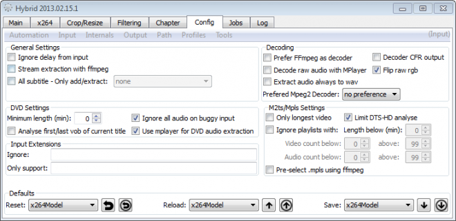 hybrid video converter screenshot