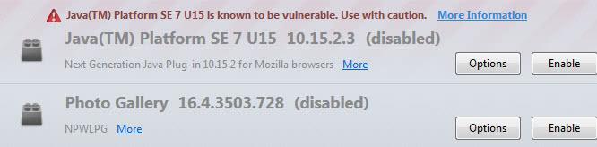 java blocked firefox screenshot