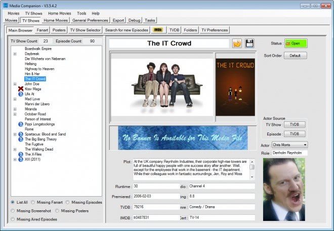 media companion screenshot