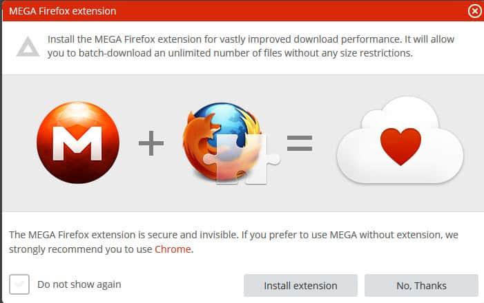 Official Mega Firefox extension released - gHacks Tech News