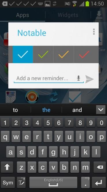 notable reminders tasks android screenshot