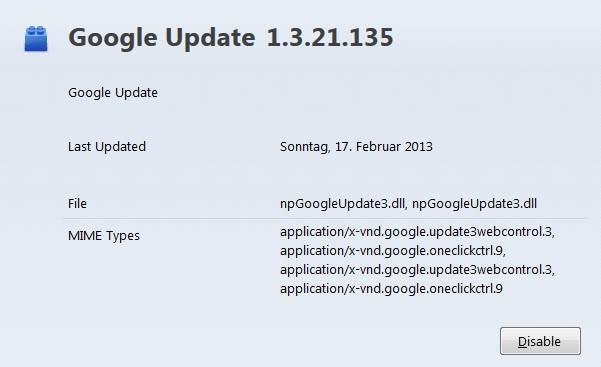 plugin information screenshot