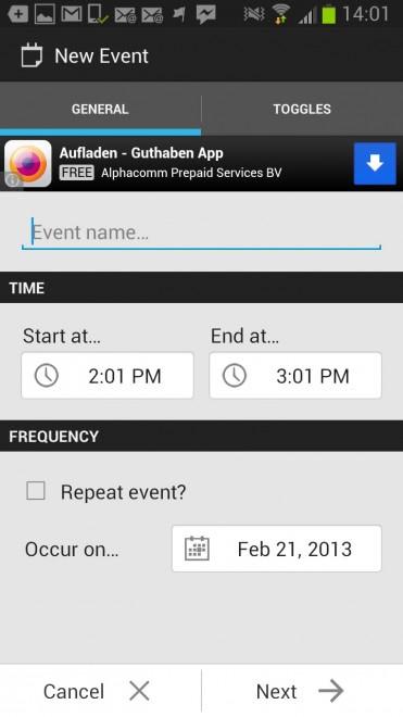 silent events screenshot