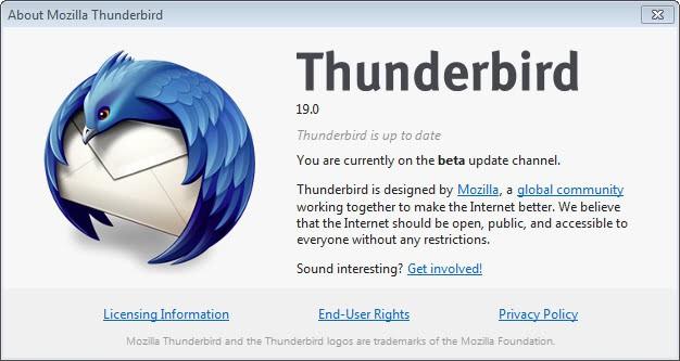 thunderbird 19 17.03 screenshot