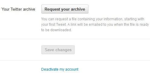 twitter download message archive screenshot