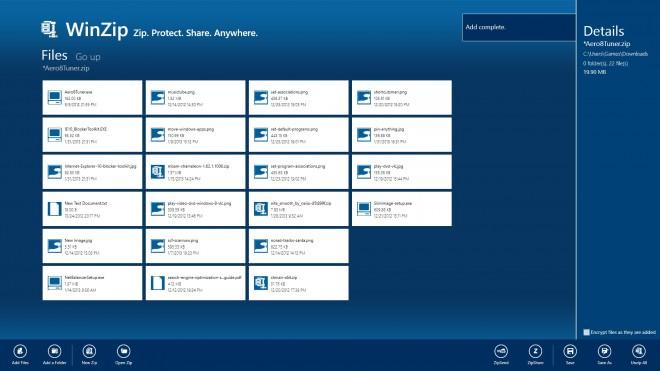 winzip windows 8 screenshot