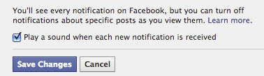 facebook sound notifications screenshot