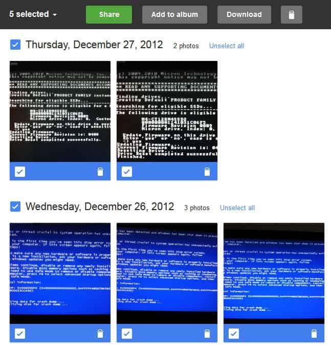 google+ instant uploads photos