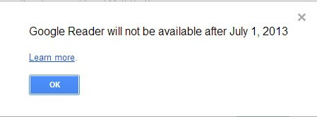 google reader shutdown