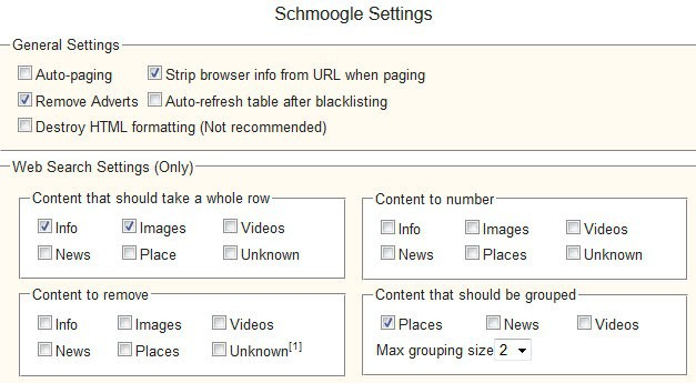 google search settings screenshot