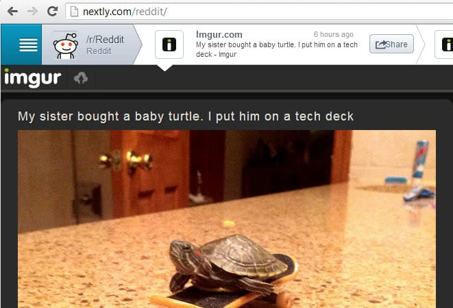 Nextly Browse Reddit Contents Blazingly Fast With The