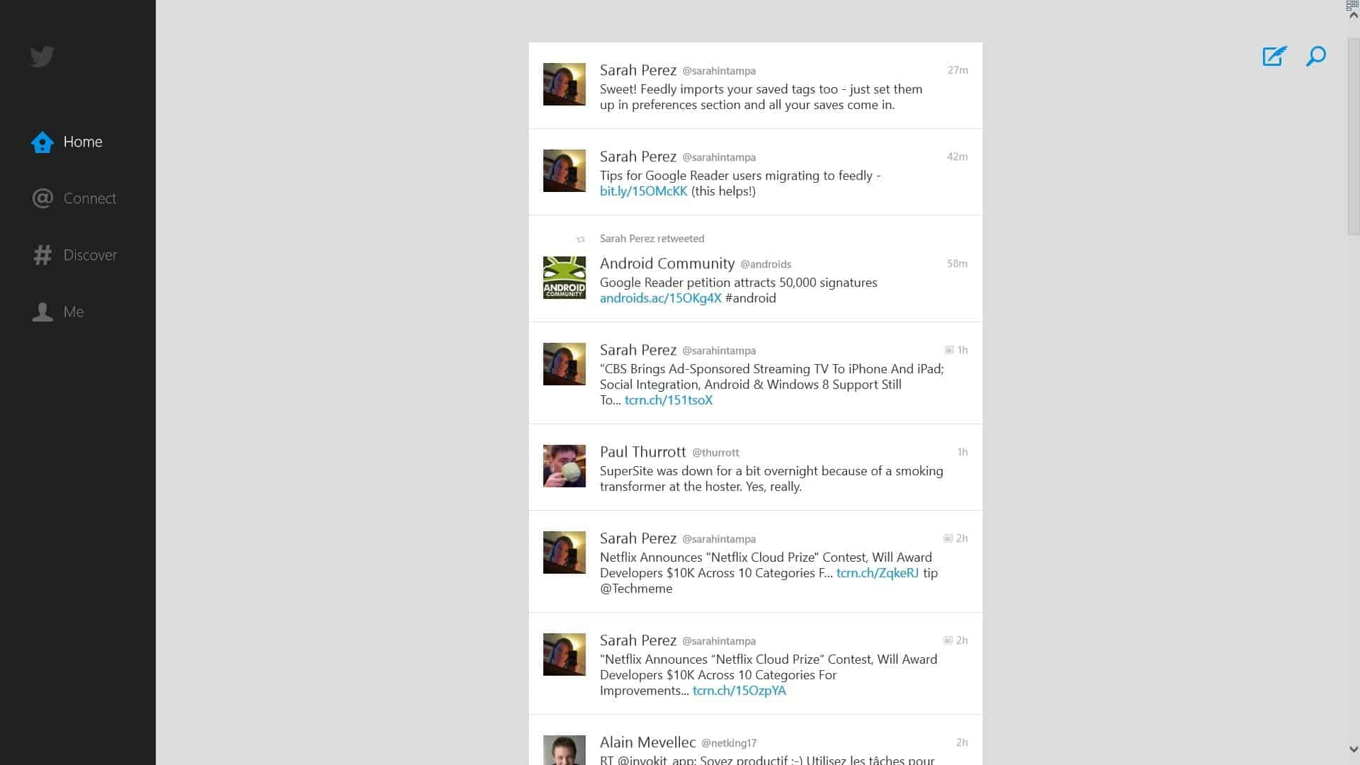 Windows 8 users mixed on the new twitter app.