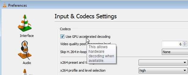 How to enable gpu accelerated decoding in VLC - gHacks Tech News
