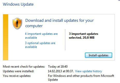 windows update march 2013
