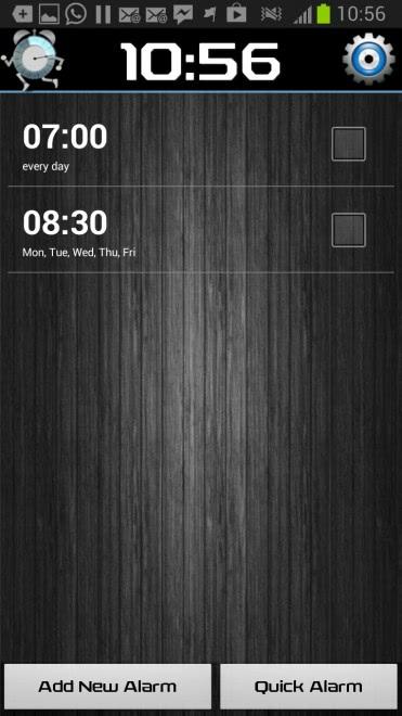 android alarm clock walk me up