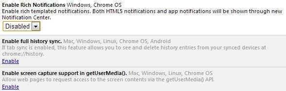 chrome disable notifications