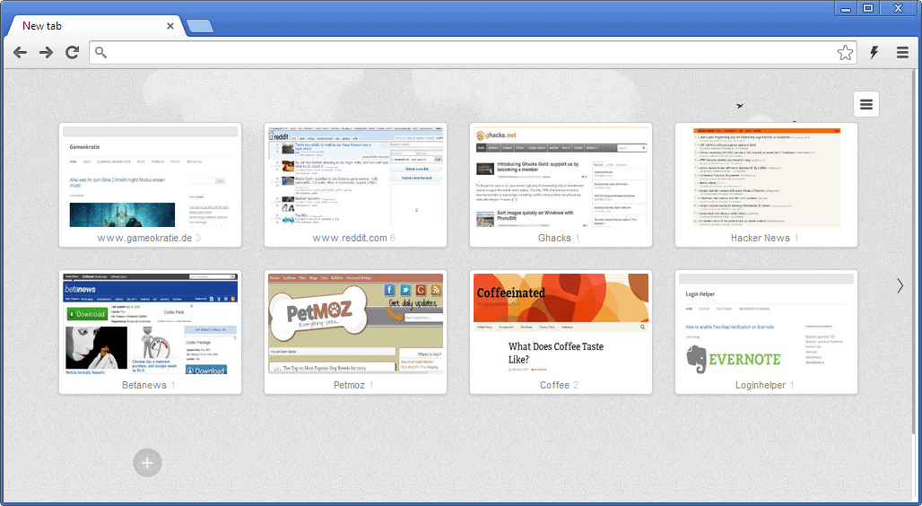 chrome-old-new-tab-page