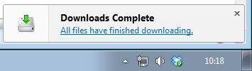 firefox downloads complete