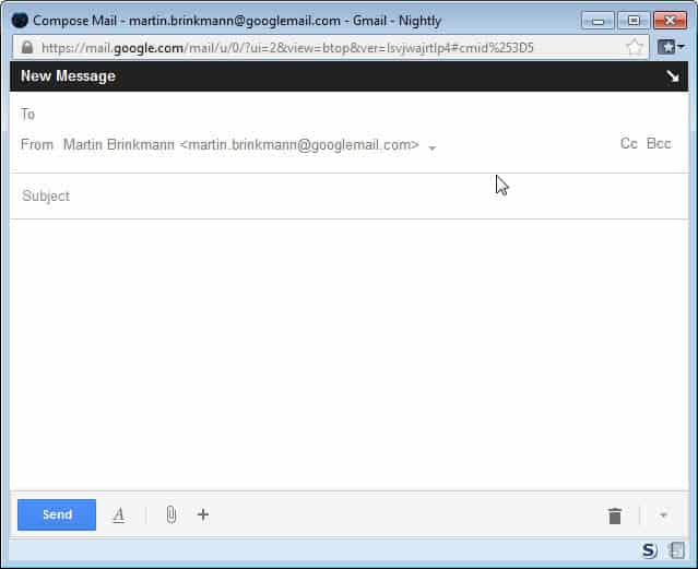 gmail large compose form