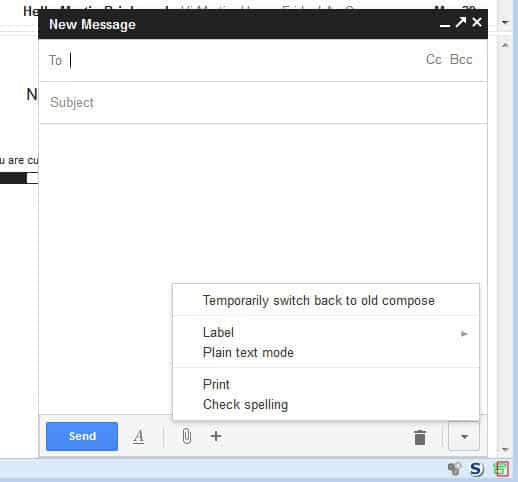 gmail old compose window