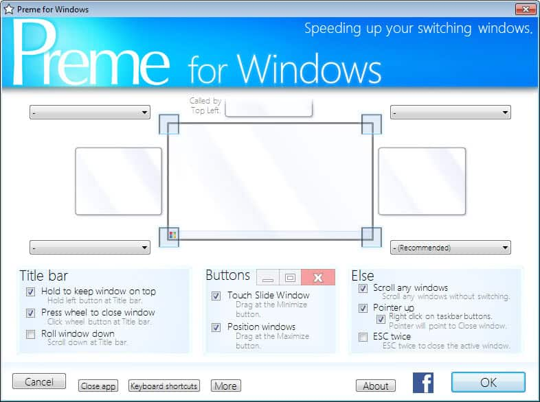 Speed up window management in Windows with Preme - gHacks
