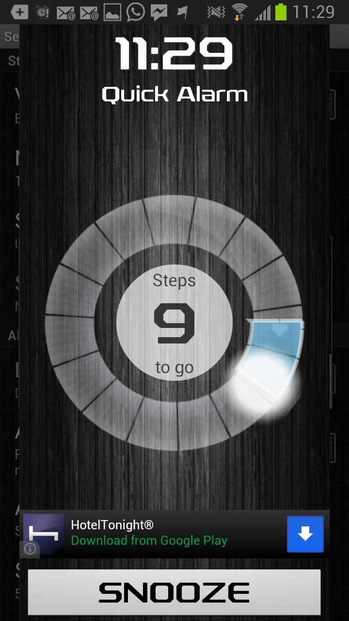 Walk me up! Alarm Clock for Android forces you to walk around to