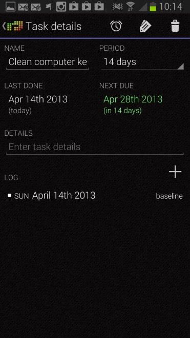 recurring tasks android
