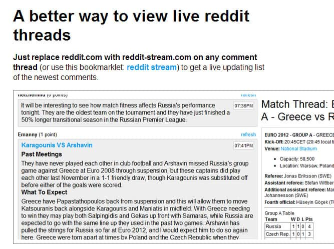 Make constantly updating threads on Reddit more accessible