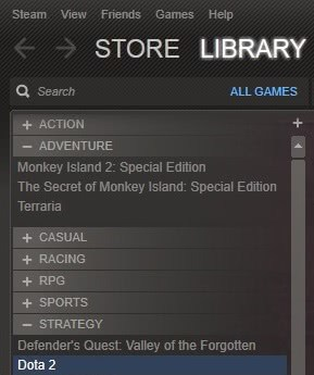 steam categories