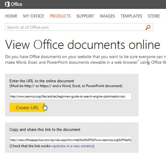 Office Web Viewer to read Office documents on the Internet