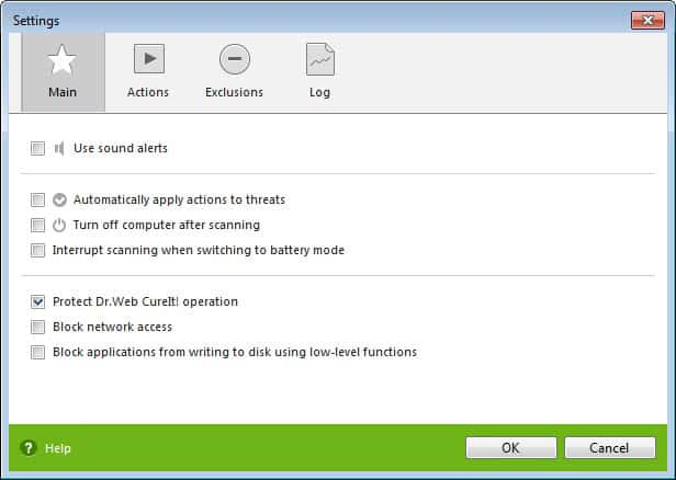 virus scanner settings