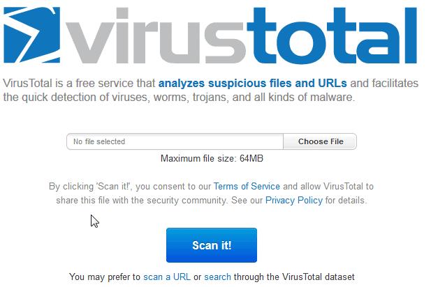 virustotal online scan