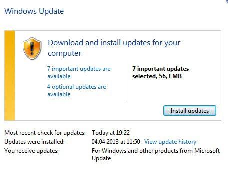 windows update april 2013