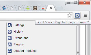 chrome service pages