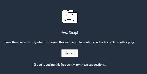 How to fix Google Chrome's Aw, Snap! error message when loading