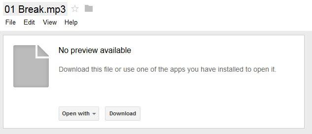 google drive mp3 play