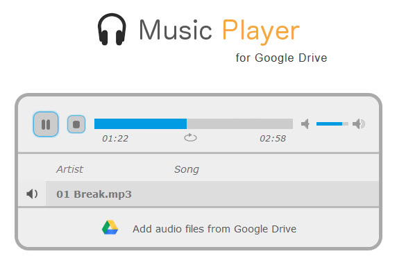 google drive music player