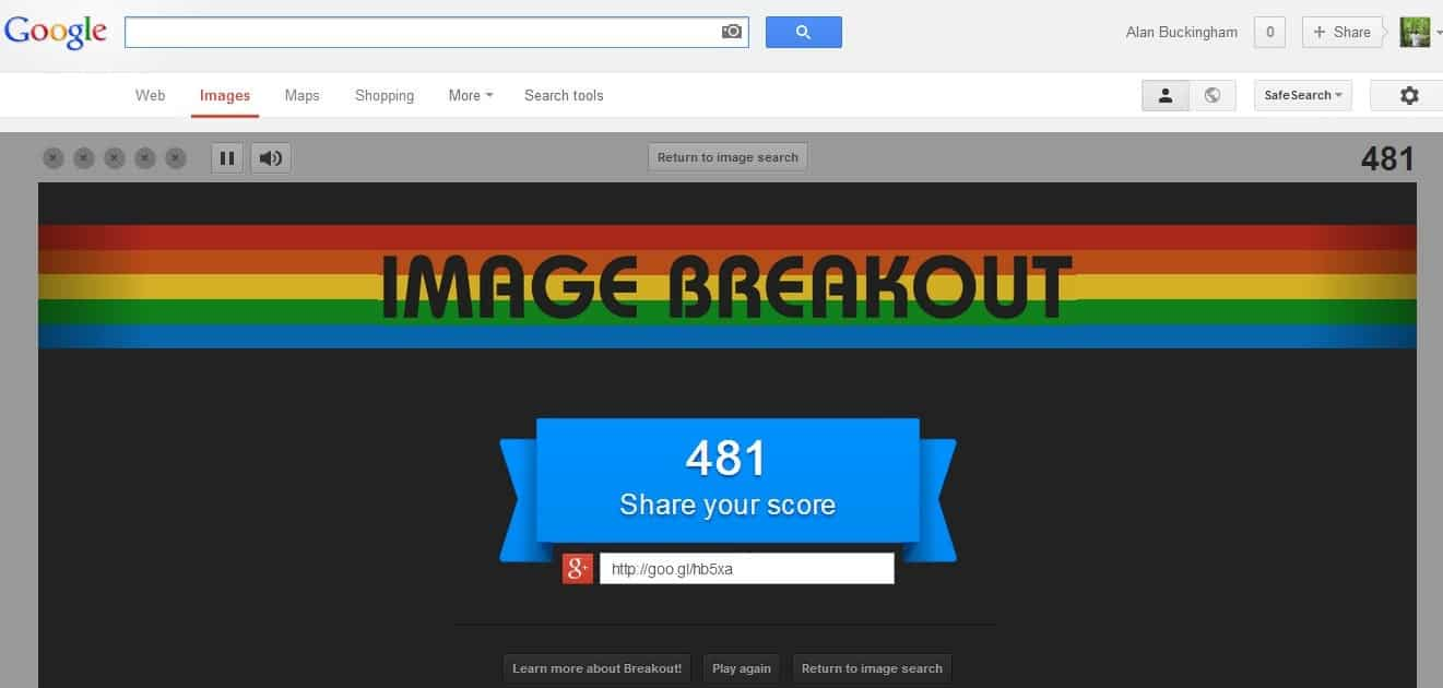 Google Introduces Atari Breakout Easter Egg Ghacks Tech News