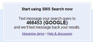 Google shuts down SMS Search