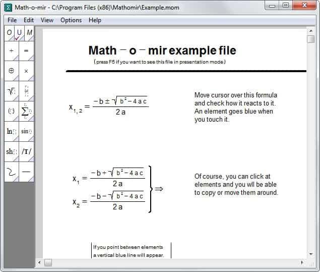 Math-o-mir: write mathematical equations on your PC - gHacks ...