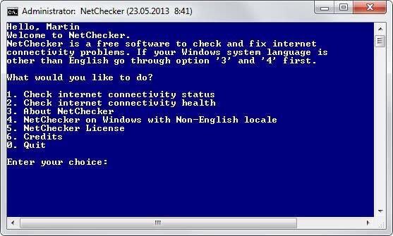 netchecker internet connection repair