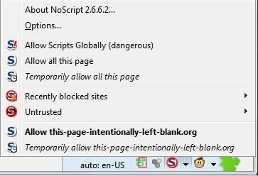 noscript tips