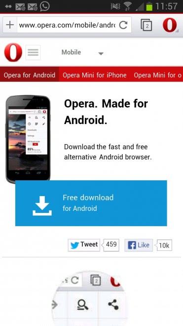 Браузер для Android | Мобильный браузер Opera | Opera
