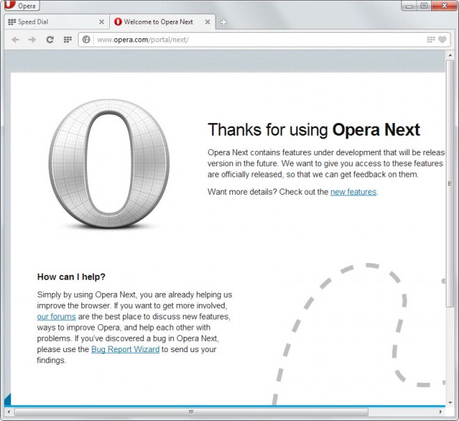 Opera 15 preview released, Mail becomes separate product