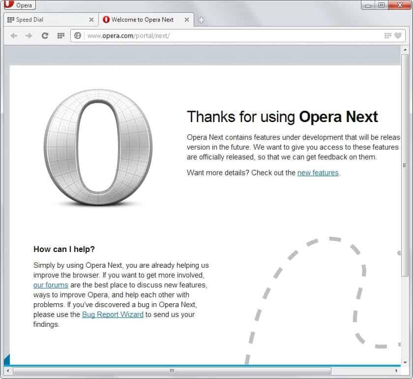 opera 15 next